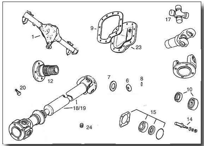 MGB Rear Axle & Propshaft