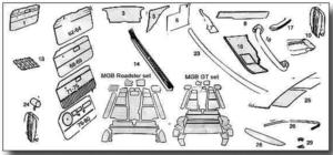 MGB Trim Panels, Seat Covers & Carpets